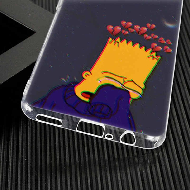 Sıcak komik Simpson yumuşak silikon telefon kılıfı için Huawei Mate 30 20 10 Lite Pro Y9 Y7 Y6 başbakan Y5 2019 2018 Pro 2017 moda kapak