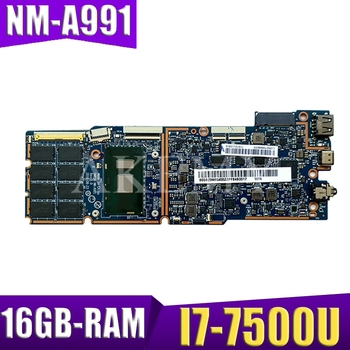 NM-A991 original mainboard for Lenovo MIIX 720-12IKB with 16GB-RAM I7-7500U Laptop motherboard