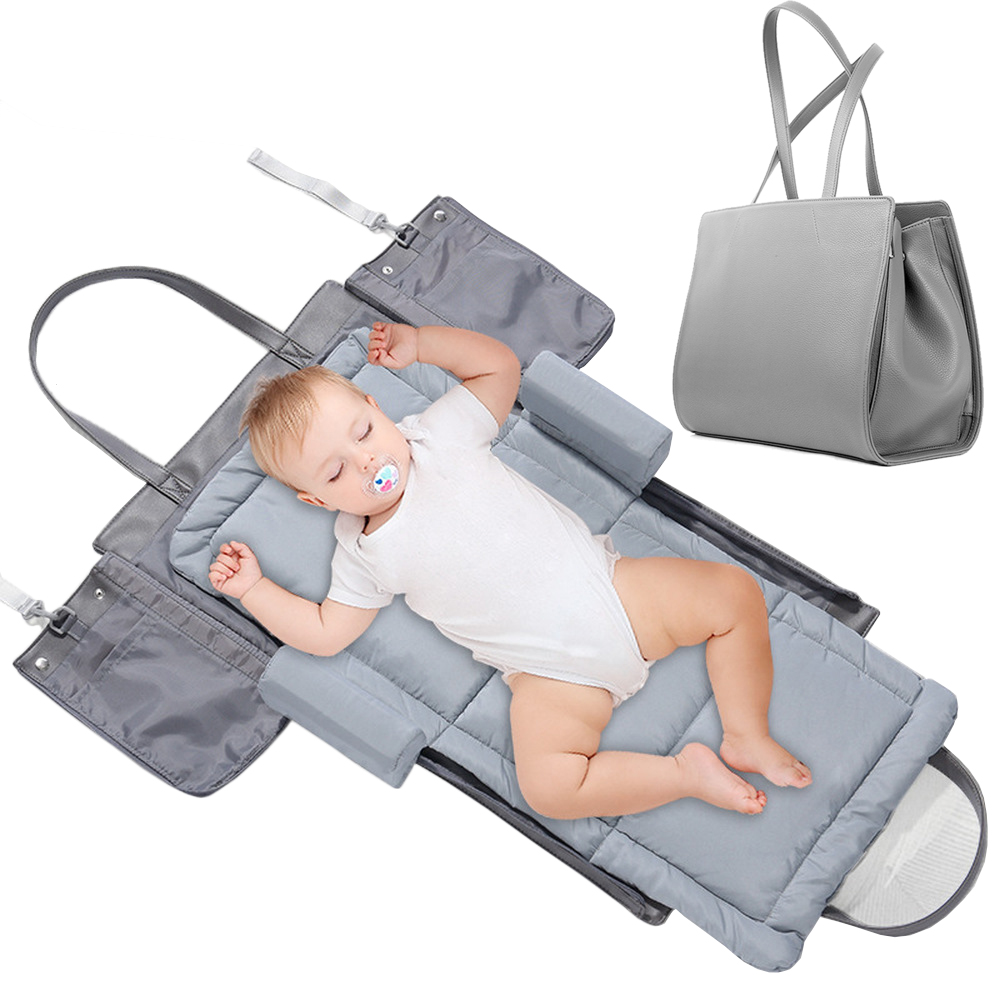Fashion & Portable Baby Bed Travel Baby Crib Nest Cradle Cot For Newborns Changing Diapers Mummy Pack Bag O0443