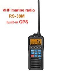 Mit GPS Marine VHF Radio RS-38M IP67 Wasserdichte Schwimmer Walkie Talkie Tri-uhr 156,025-157,425 MHz Transceiver zwei weg radio