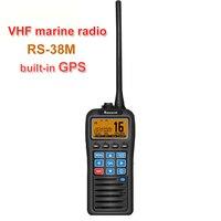 With GPS VHF Marine Radio RS 38M IP67 Waterproof Float Walkie Talkie Tri watch 156.025 157.425MHz Transceiver two way radio