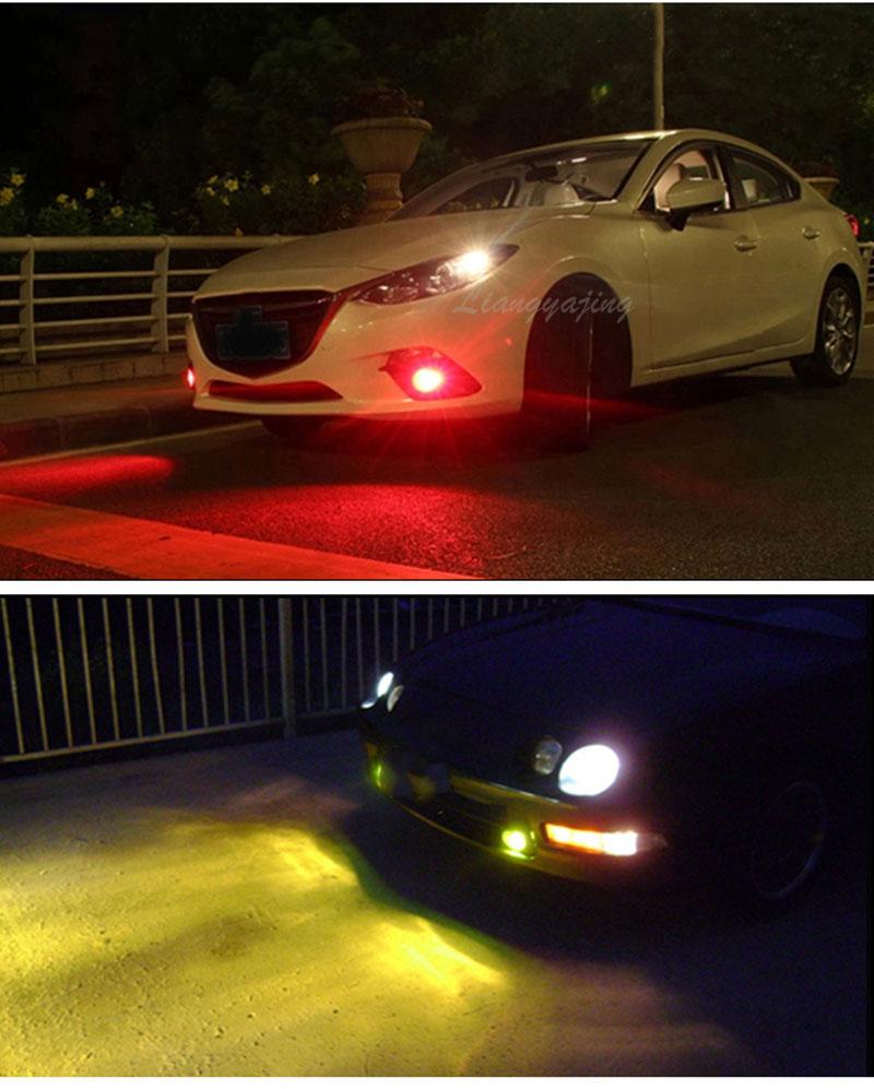 cob carro led condução nevoeiro lâmpada vermelho