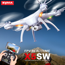 Syma X5SW WiFi Drone with Camera FPV Quadcopter X5SC HD Dron 2.4G 4CH 6-Axis RC Helicopter 4 Batteries and 4 Motors as Gift rc drone syma x5sw fpv rc quadcopter drone with camera 2 4g 6 axis rc helicopter drones with camera hd vs jjrc h31 h33