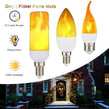 Светодиодный светильник с пламенем, имитация свечей, E27, датчик силы тяжести, мерцающий эмуляционный декор, лампа с эффектом огня, лампа с датчиком тяжести