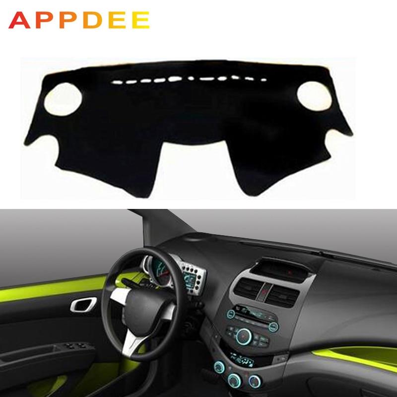 APPDEE Car Auto Inner Dashboard Cover Dashmat Carpet Cape For Chevrolet Spark 2013 2014 2015 Sunshade Dash Mat Anti-dirty