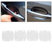 4 stks/set Wit Transparant Auto SUV Side Door Edge Protector Beschermende Strip Schrapen Guard Bumper Guards Handvat Cover Auto Styling(China)