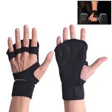Регулируемые перчатки для тяжелой атлетики для фитнеса, поддерживающие ленту, портативная защита ладоней, для спортзала, для пальцев, защита на запястье, для тренировки, упражнений