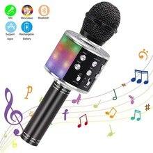 Micrófono inalámbrico con Bluetooth para Karaoke, altavoz profesional de mano, reproductor de micrófono, grabador para cantar, KTV en casa