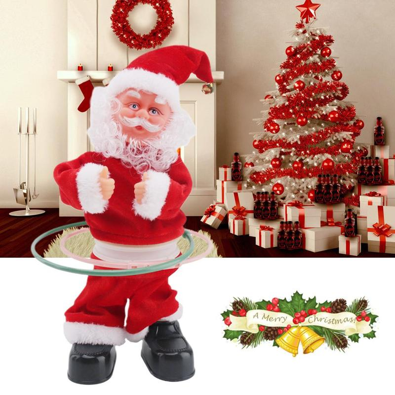 Electric Singing And Dancing Musical Toy Santa Claus Doll New Year Christmas Gifts For Kids Interactive Plush Doll