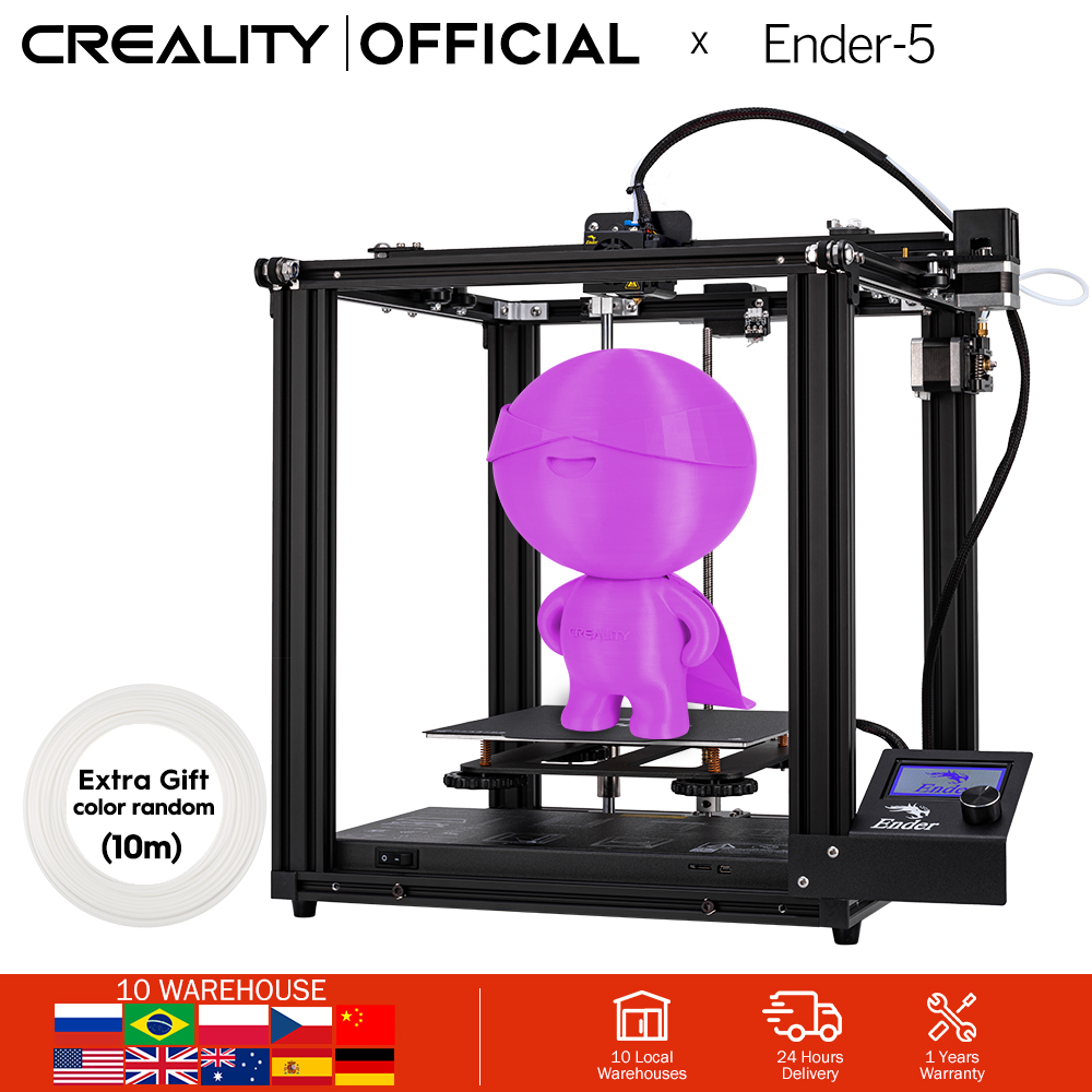 CREALITY 3D Printer Ender-5 Dual Y-axis Motors Magnetic Build Plate Power off Resume Printing Enclosed Structure