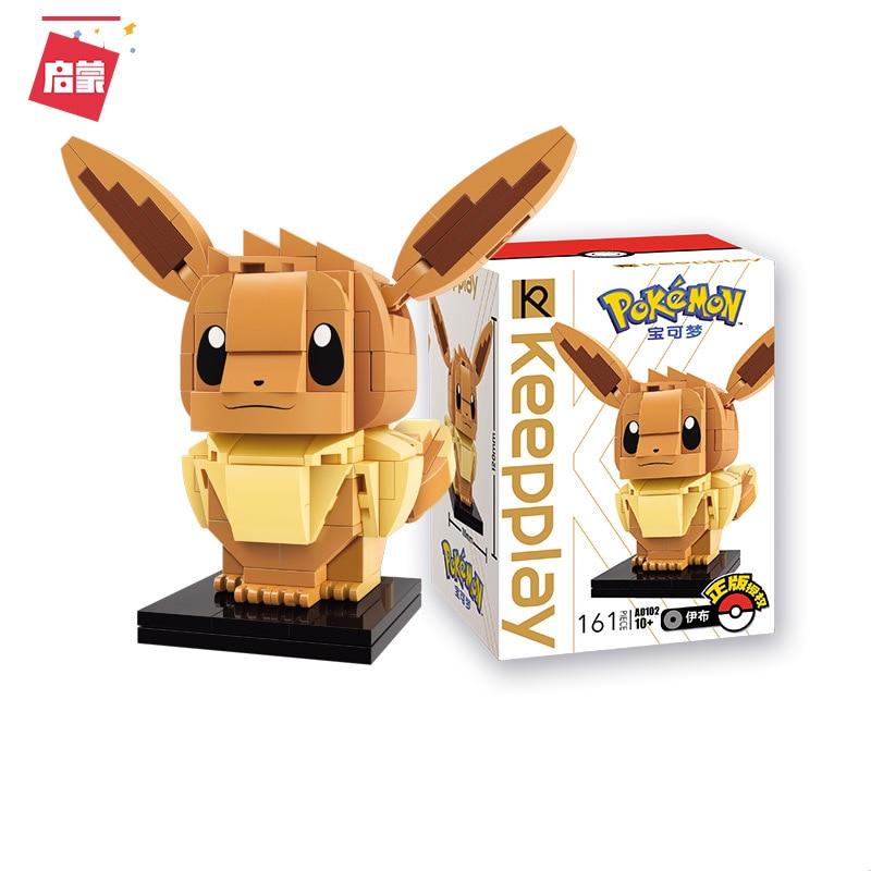 Eevee New Brickheadz A0102 Charmander Building Blocks Pokemonedly Mini Figures Pikach Psyducked Headz Toys For Children