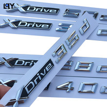 Etiqueta do carro 3D tronco ABS do emblema do emblema padrão de emissão de combustível para bmw xdrive 18d 20d 25d 30d 35d 28d 40d 50d X1 X2 X3 X4 X5 X6