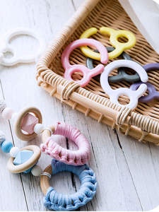 5pcs Pacifier Hook Plastic Plastic Teething Ring Links For Baby Stroller Toys Teething