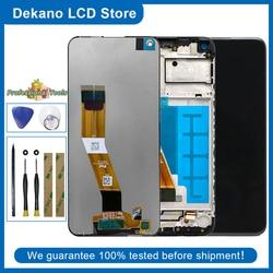 Оригинальный ЖК-дисплей для Samsung Galaxy A11 2020 A115 157,5 мм, сенсорный экран, дигитайзер в сборе с рамкой, инструменты, клейкая наклейка