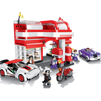 City Series Car Gas Station Kids Building Blocks Sets Bricks Classic Model Toys For Children Gift