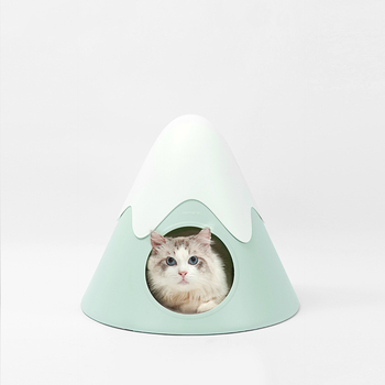 Snow Mountain Cat Nest Semi-closed Cat House Four Seasons Universal Pet Bed Removable And Washable Double-sided Velvet Cushione