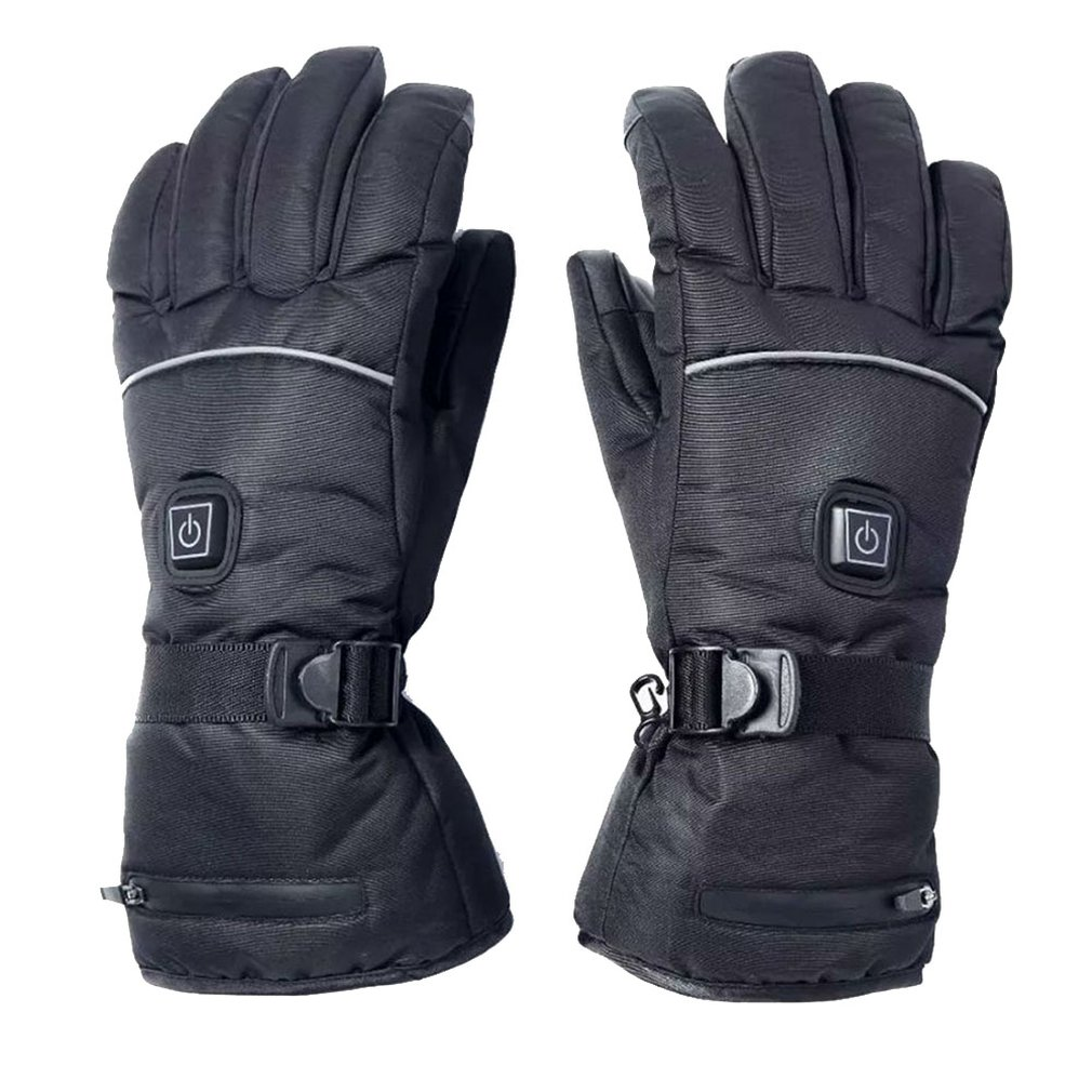 Winter Ski Warm Electric Heating Gloves Three-Level Thermostat Electric Gloves Finger Back Heating Gloves