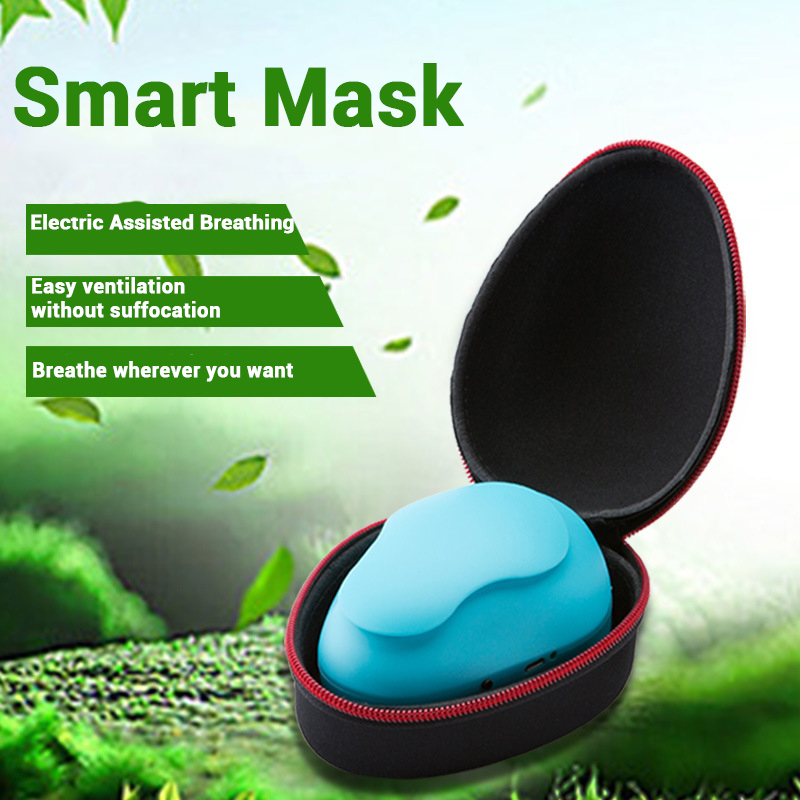 Smart Electronic Face Mask Dustproof Air Purifying PM2.5 Pollution Facemask Breathable Valve Anti-haze Cycling Mask USB Charged