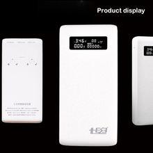 (Senza Batteria) dual USB di Uscita QC3.0 6x18650 Batterie FAI DA TE Cassa del Supporto Contenitore di Accumulatori E Caricabatterie Di Riserva Veloce Caricatore Per Il Telefono Mobile Tablet PC WXTA