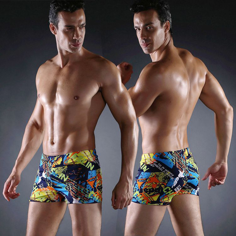 Manufacturers Direct Selling 2019 New Style Men Boxer Mixed Colors Swimming Trunks Plus-sized Hot Selling MEN'S Swimming Trunks