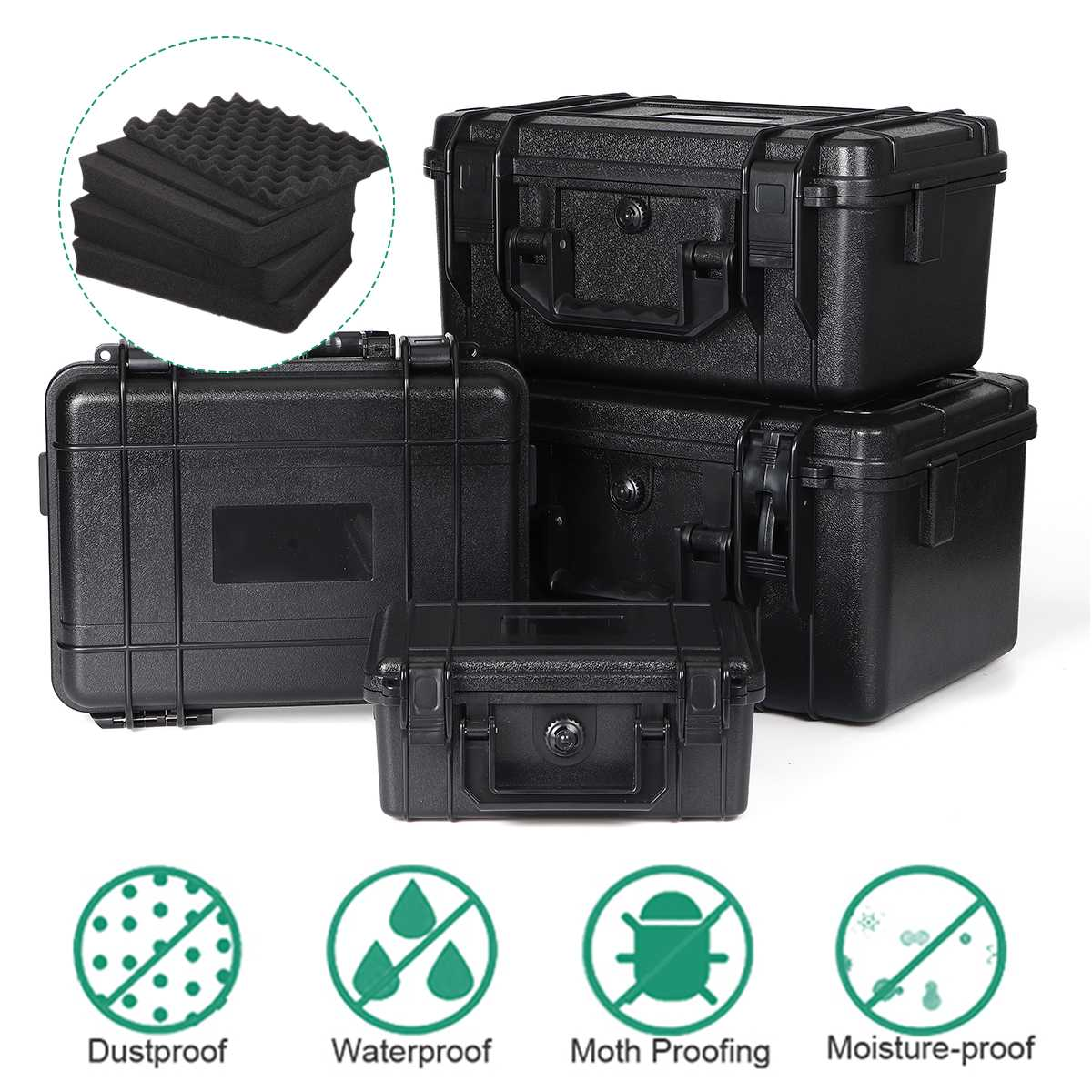 Waterproof Safety Case ABS Plastic Tool Box Outdoor Tactical Dry Box Sealed Safety Equipment Storage Outdoor Tool Container