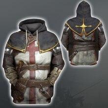 Liumaohua  Fashion hoodies Knights Templar 3D Printed Hoodie Sweatshirt Men/Women Casual Streetwear sudadera hombre