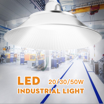 220V Led Industrial Lighting E27 20W 30W 50W Waterproof Led High Bay Light for Warehouse Garden Garage Light luces led exterior