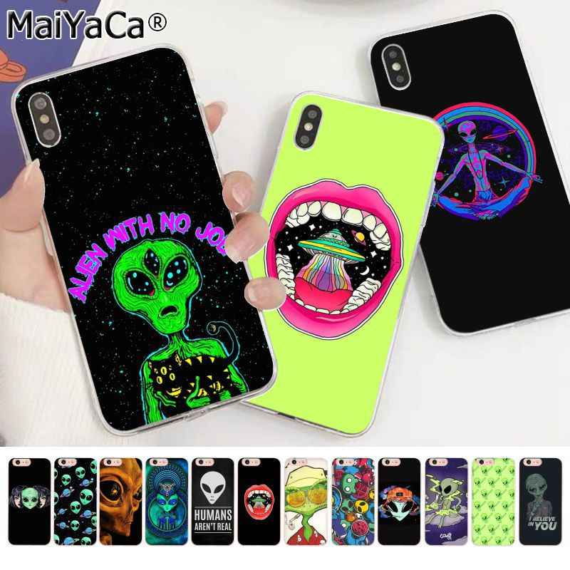 MaiYaCa Trippy Tie Dye Peace Alien Customer High Quality Phone Case for Apple iphone 11 pro 8 7 66S Plus X XS MAX 5S SE XR cover