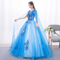 Tulle Ball Gown 2019 Spring Appliques Flowers Quinceanera Dresses Robe De Bal 15 Sweet Sixteen Debutante Gowns Quinceanera Kjole