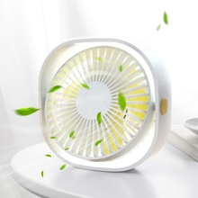Portable Desk Fan, Mini Table Fan with USB Rechargeable, 3 Speeds Quiet Personal Fan for Home Office and Travel-White portable mini clip stroller fan 3 speeds settings flexible bendable usb rechargeable battery operated quiet desk fan for home