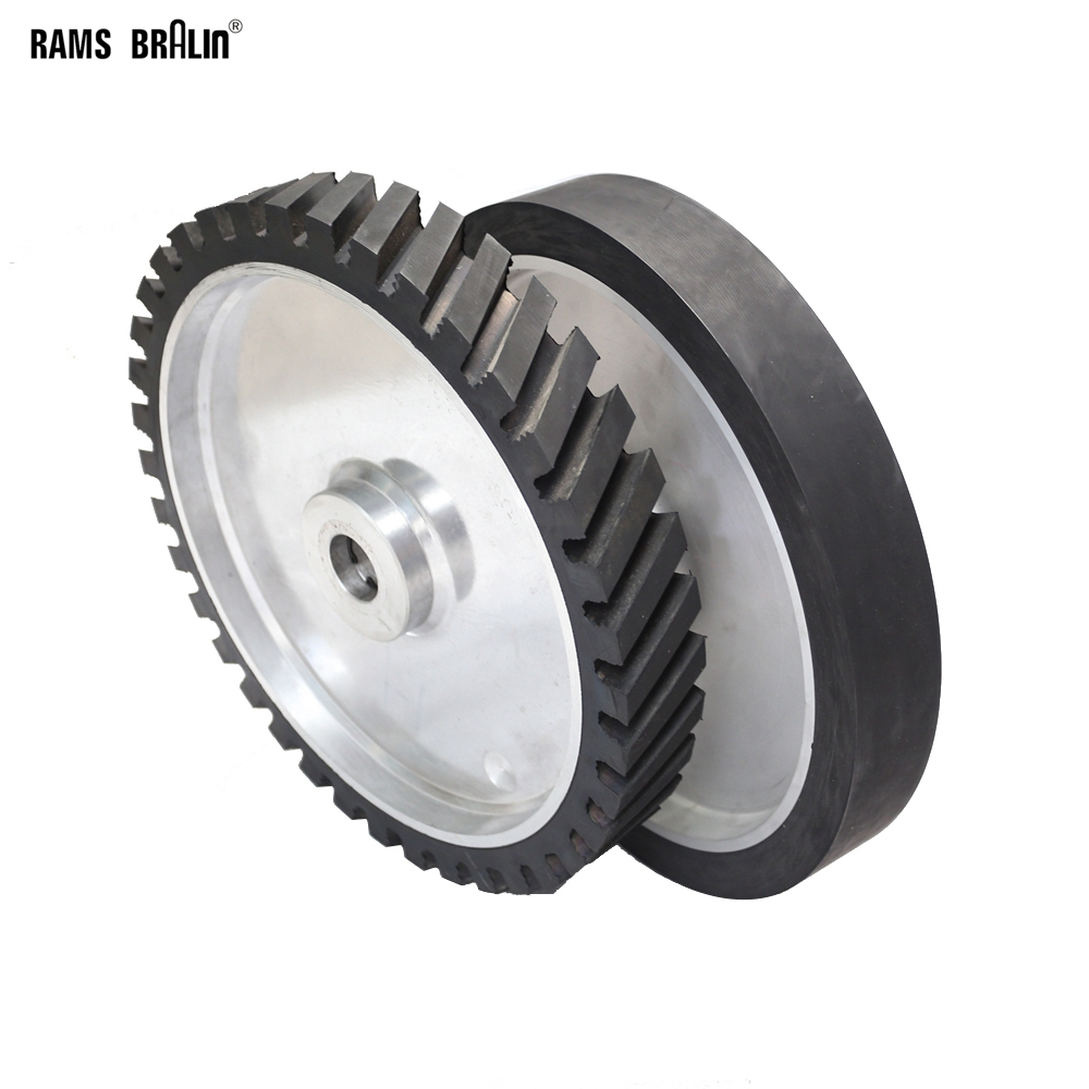 350*50mm Rubber Contact Wheel Belt Grinder Wheel Dynamically Balanced