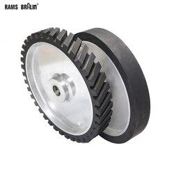 350*50mm Rubber Contact Wheel Belt Grinder Wheel Dynamically Balanced