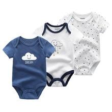 Newborn Bodysuits Roupas-De-Bebe Baby-Boy Girls 100%Cotton 3pcs/Lot 0-12M