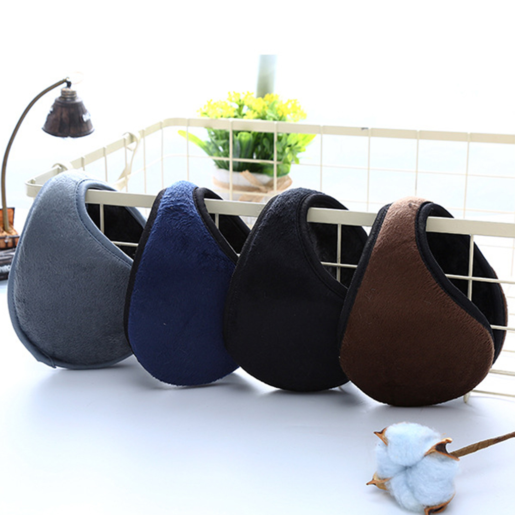 Unisex Solid Winter Earmuffs Soft Thicken Plush Ear Cover Protector Ear Muff Wrap Band Warmer Earflap For Men Hot