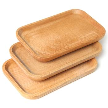 Pizza Tray Baking with Handle Pan Breadboard Wooden Board Western Steak Plate Cake for Kitchen