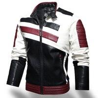 Männer Winter Leder Jacken Mantel Lässig 2021 Mens Fashion Motorrad Jacke Faux Mäntel Männlichen Fleece Warme Slim Fit Bomber Oberbekleidung