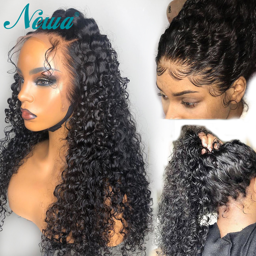 Newa Hair 360 Lace Frontal Wig Human Hair With Baby Hair Brazilian Curly Lace front Wig