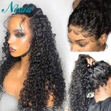 Newa שיער 360 תחרה פרונטאלית פאה שיער טבעי עם תינוק שיער ברזילאי מתולתל תחרה מול פאה מראש קטף מולבן קשרים רמי שיער פאה