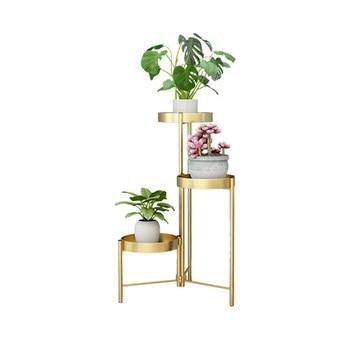 Living room flower shelf wrought iron multi-layer turn corner green dill modern indoor balcony flower pot rack