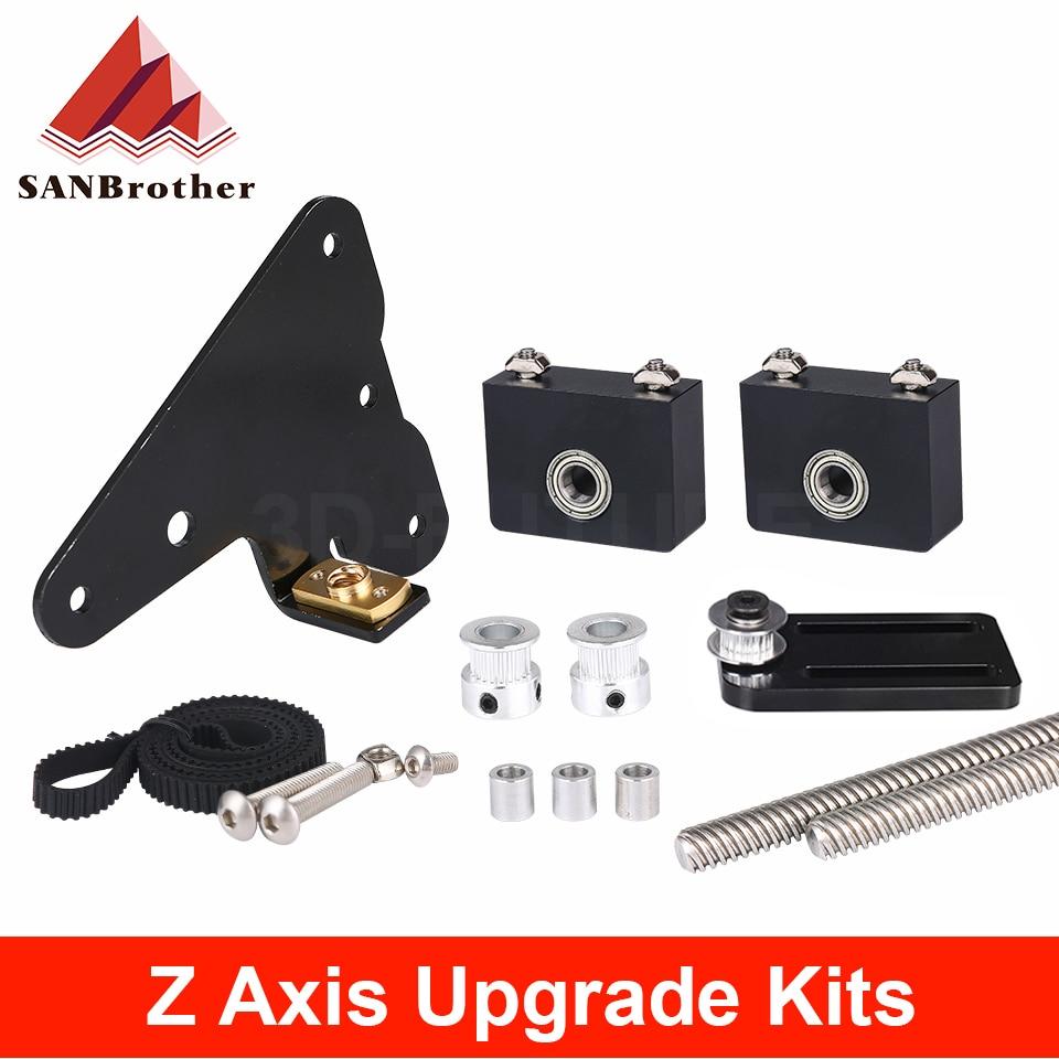 3D Printer Parts Upgrade Kits Creality Ender 3-CR10 Dual Z Axis T8 Lead Screw Kits Bracket Aluminum
