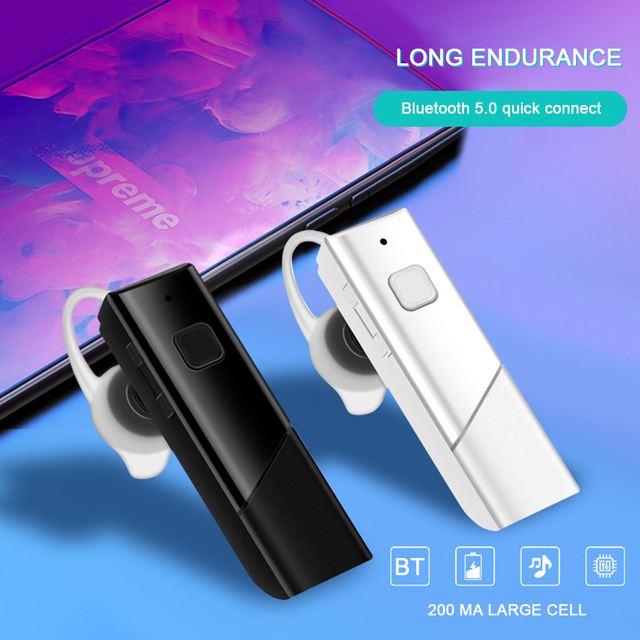 Ultra-long standby wireless Bluetooth headset Subwoofer sports headphones in-ear mini car stereo 5 0