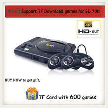 4K HD 16 bits Super Mini Console de jeu pour Sega MD 100 en 1 lecteur de jeu portable Double manette dans la boîte contrôleur adaptateur cadeau