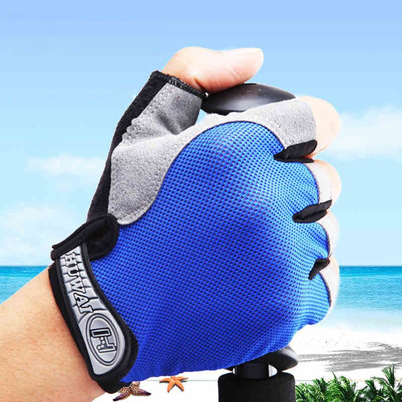 Outdoor Sports Half Finger GEL Gloves Men Women Gym Fitness Weight Lifting Workout Jogging Running Exercise Training Fingerless