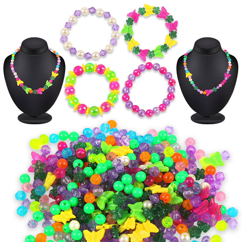 Children Hand-made Beaded Bracelet 120 GIRL'S Wear Beads Bracelets Necklace DIY Materials Educational Toy Gift