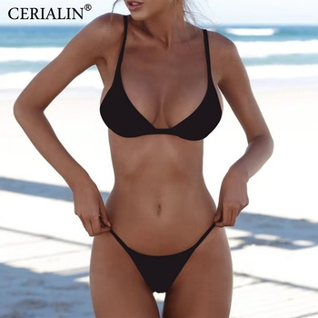 Low-cut Two-piece Bikini Set Push Up Swim Suit Swimwear Women Swimsuit Sexy Bikinis Female Beachwear Backless Biquini Sets sexy bikinis women bikinis set swimwear women swimsuit push up swim suit biquini beachwear bikini