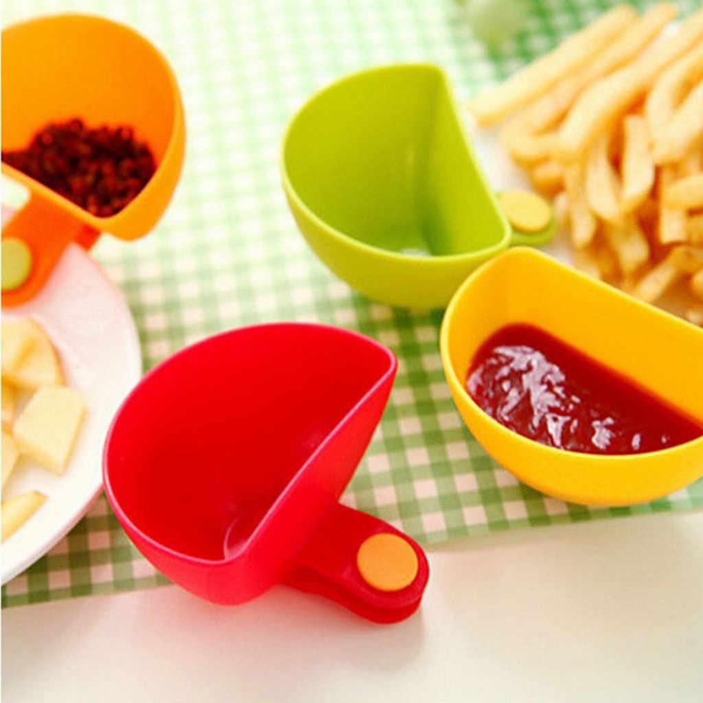 1 قطعة متنوعة التوابل السكر سلطة صوص الطماطم أطباق المطبخ كليب عاء Dip المطبخ عاء Dip مقطع صغير التوابل طبق