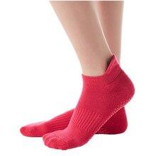 Chaussettes de Yoga antidérapantes pour femmes, avec poignées épaisses, semelle en Silicone antidérapante, en coton respirant, Pilates, Barre Pure, danse de Ballet