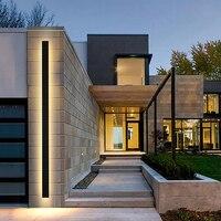 Applique da parete a LED per esterni applique lunga moderna impermeabile IP65 villa portico lampada da parete da giardino applique da parete a Led applique da parete nere