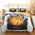 Комплект постельного белья с 3D принтом  пододеяльник  постельный комплект  спортивный баскетбольный домашний текстиль для взрослых  постел...