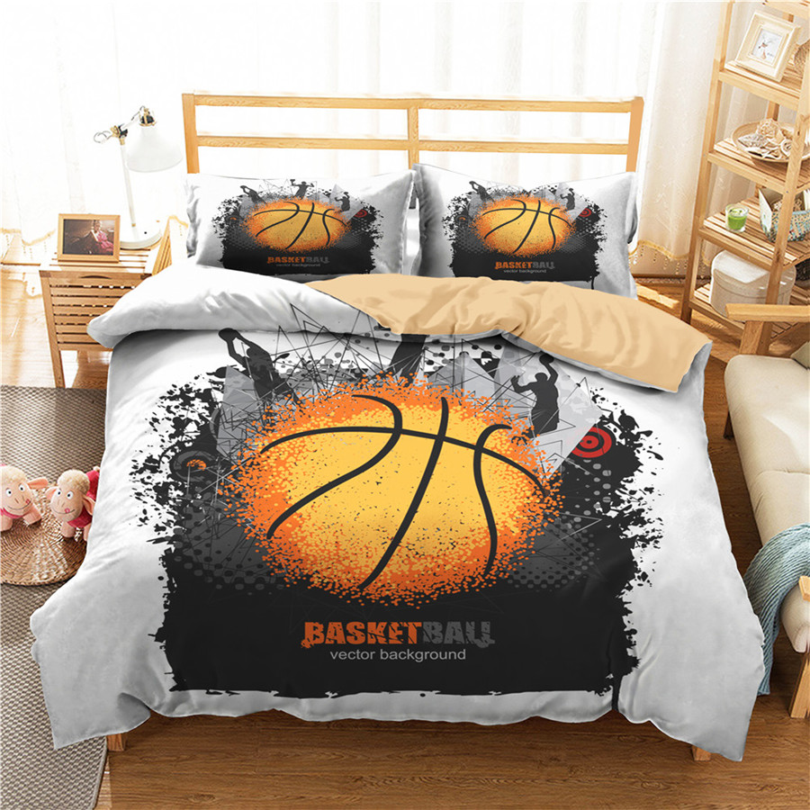 A Bedding Set 3D Printed Duvet Cover Bed Set Sport Basketball Home Textiles For Adults Bedclothes With Pillowcase #LQ19
